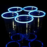 24 Blue Glow Stick Party Cups, 16-18 oz.