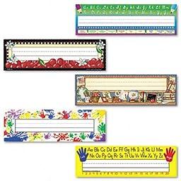 Teacher Created Resources Jumbo Nameplates, Assorted Designs, 11-1/2\