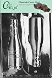 Cybrtrayd AO042 Large Champagne Bottle Chocolate Candy Mold with Exclusive Cybrtrayd Copyrighted Chocolate Molding Instructions