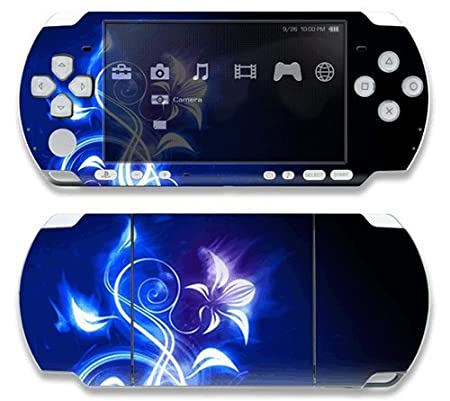 Electric Flower Decorative Protector Skin Decal Sticker for Sony Playstation PSP Slim / PSP 3000