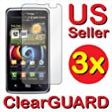 DC 3x LG Spectrum Revolution 2 VS920 Premium Invisible Clear LCD Screen Protector Kits 3 pieces