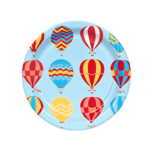 Hot Air Balloon Party Dessert Plates (8) (Hot Air Balloon Paper Plates compare prices)