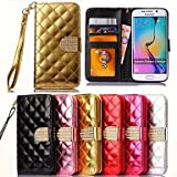 Gym Bling Diamonds Full Body Cute Cool Phone Cases For Samsung Galaxy S6 Edge G9250(Assorted Color) , Golden Protective Smartphone Shell