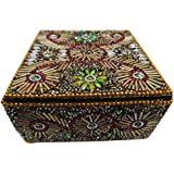Decorative Box Indaian Home Decor Vintage Style Lac Beaded Material Gift Accessories Storage Case Table Top Handmade...