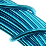 Aluminum Craft Wire 12 Gauge 39 Feet TURQUOISE
