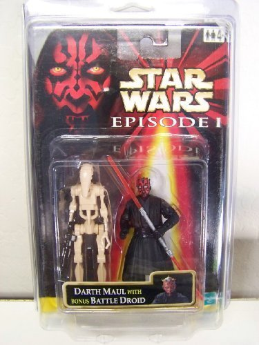 Star Wars Episode I Darth Maul (Jedi Duel) with Bonus Battle Droid Two Figure Pack - International Version by Hasbro (English Manual)