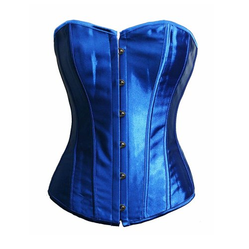 Bslingerie Womens Blue Satin Boned Bridal Bustier Corset Size: UK 8-10 (S)