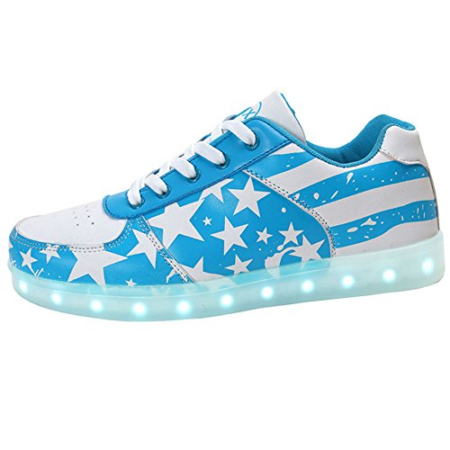 Miss Cutie Women & Men Unisex LED 7 Color Lights Chargable Flashing Fashion Sneakers