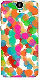 The Racoon Grip Abstract Colors hard plastic printed back case / cover for HTC One E9 Plus