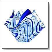 Radiance Glass Vase Finish: Blue and White