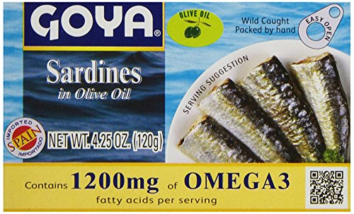 Goya Sardines In Olive Oil, 4.25 Ounce (Pack of 25) (Goya Olive Oil compare prices)