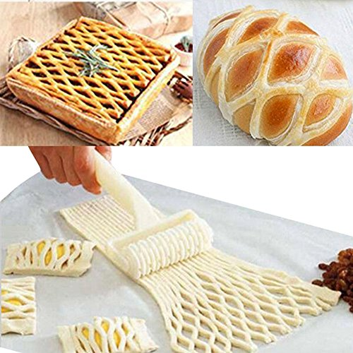 Bihood Pizza Cutter Pizza Dough Roller Fondant Roller Cake Ball Roller Cake Pop Roller Easy Cake Pop Roller Fondant Cutter Strip Embosser Roller Cake Decorating DIY Mould (Roller Skate Pan compare prices)