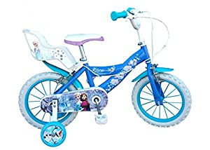14 zoll kinderfahrrad die eisk nigin frozen m dchen 4 5 6 7 jahren sport freizeit. Black Bedroom Furniture Sets. Home Design Ideas