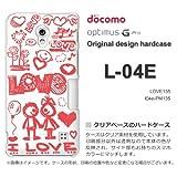docomo Optimus G Pro L-04E ケース Optimus G Pro L-04E カバー ケース・ジャケット【LOVE135/l04e-PM135】