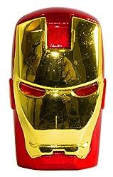 Zeztee Pen Drive ZT11600 Avanger Iron Man Face Shape 16 GB USB 2.0 Designer Fancy Flash Drive in Red Golden Color