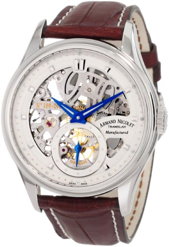 Armand Nicolet Men's 9620S-AG-P713MR2 LS8 Limited Edition Skeleton Hand-Wind Watch