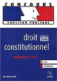 echange, troc François Chevalier - DROIT CONSTITUTIONNEL  CATEGORIES A ET B ED 2008-2009 (Ancienne Edition)
