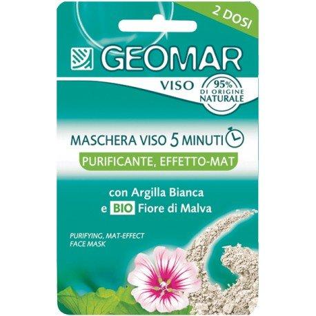 Geomar Maschera Viso Purificante - Confezione da 2 x 7.5 ml