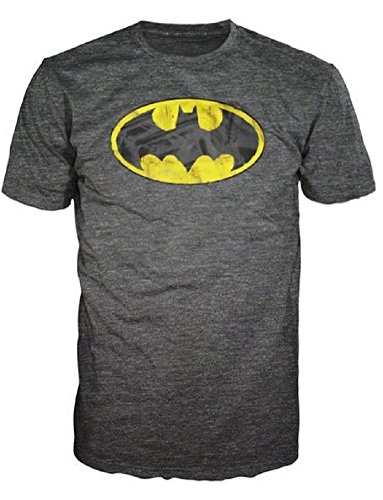Batman Brushed Logo Heathered Mens T-Shirt mens batman logo badge bifold wallet dft 1327