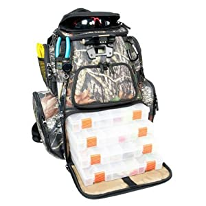 Buy Wild River NOMAD Mossy Oak Tackle Tek Lighted Backpack w 4 PT3600 Trays by Wild River