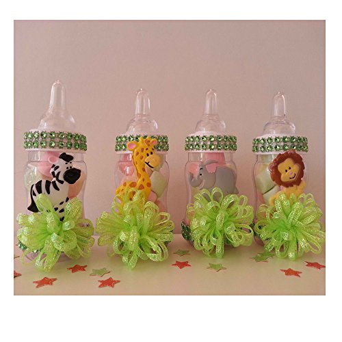 12 Fillable Bottles Baby Shower Favors Prizes Games Safari Jungle Noah's Animals, New (Safari Baby Shower Favors compare prices)