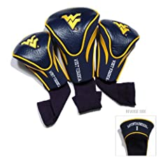 NCAA West Virginia Mountaineers 3 Pack Contour Golf Club Headcover by Team Golf
