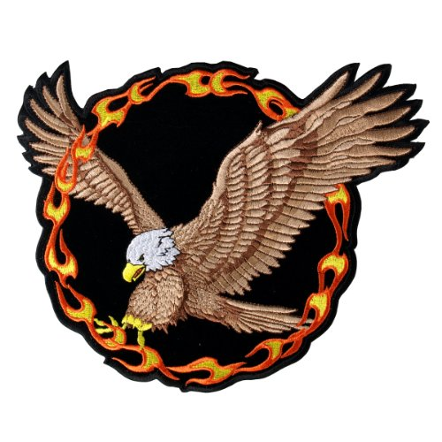 Hot Leathers Ring Of Fire Eagle Patch (14