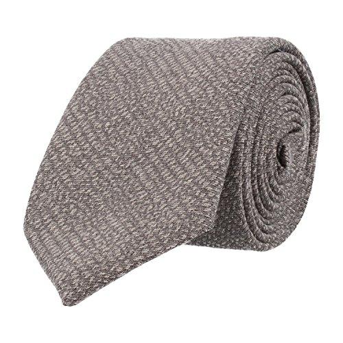Baldessarini classico Cravatta in lana seta grigio granulato