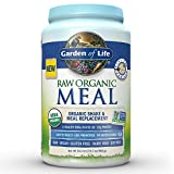 Garden of Life Organic Vegan Meal Replacement - Raw Plant Based Protein Powder, Vanilla, 34.2oz (969g) Powder