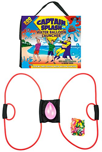 Captain Splash 200 Yard Water Balloon Launcher, 150 FREE Water Balloons And Carry Case, 3 Person Extreme Launcher Slingshot. 2016 Edition.