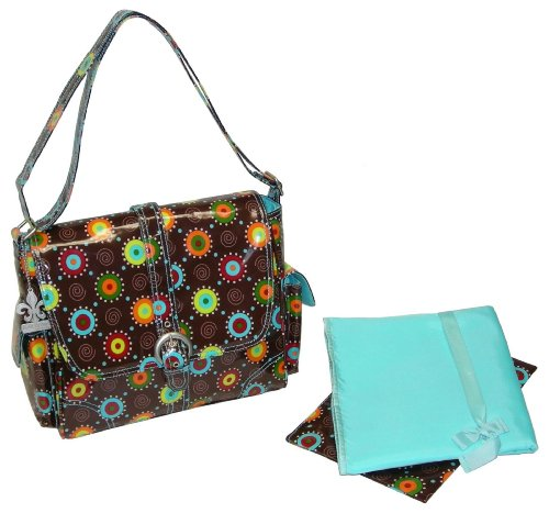 kalencom-fashion-diaper-bag-changing-bag-nappy-bag-mommy-bag-midi-coated-buckle-bag-doodle-bugs-choc