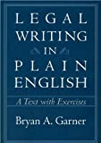 img - for By Bryan A. Garner Legal Writing in Plain English: A Text with Exercises (Chicago Guides to Writing, Editing, and Publishing) [Hardcover]2001 book / textbook / text book