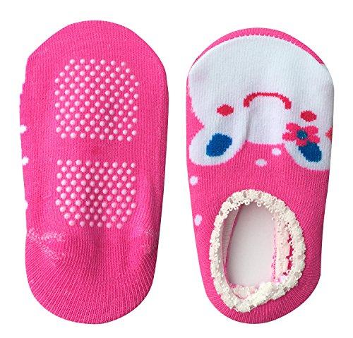 Bassion 10 Pairs (Random Colors) Non Slip Baby Socks for 6-18 Months, Cute Baby No Show Socks Newborn Socks Toddler Socks Infant Socks, Baby Anti Skid Socks Color in Socks Baby Shoes Socks for Babies