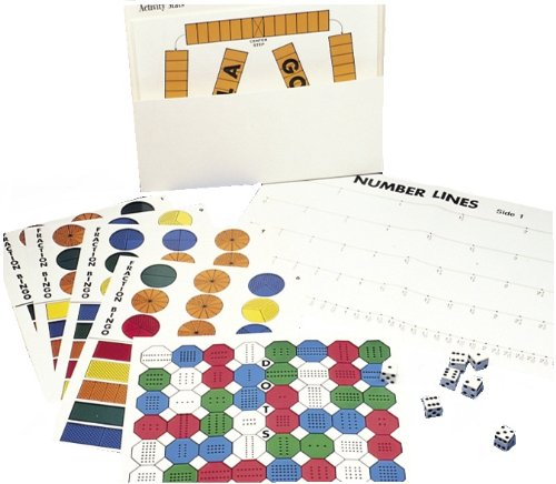 American Educational Fraction Bars Activity Mats, Grades 1-2