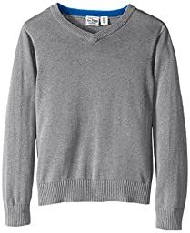 The Children\'s Place Little Boys\' Vneck Sweater, Heather Grey, X-Small/4