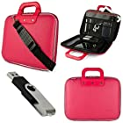 Pink SumacLife Cady Semi Hard Case w/ Shoulder Strap for HP Pavilion g6-2210us 15.6-inch Notebook PC + Black 4GB Flash Memory USB Thumbdrive