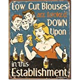 Schonberg - Low Cut Blouses Tin Sign , 12x16