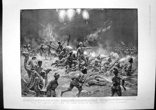 Stampa Antica di Sir Bindon Blood Division Kurram 1897 della Forza di Campo di Mohmand