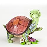 Jim Shore for Enesco Heartwood Creek Turtle with Flowers Figurine, 4-Inch