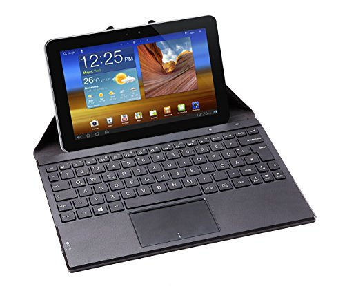 Perixx PERIDUO-880, Bluetooth Keyboard with Touchpad - Multi-touch Support with Windows 7 and 8 - Portable Cover with built-in Stand for Tablet and Smart Phone User (Bluetooth Touchpad Windows 8 compare prices)