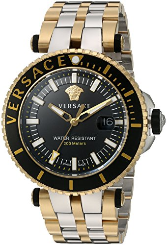 Versace-Mens-V-Race-Swiss-Quartz-Stainless-Steel-Casual-Watch-ColorTwo-Tone-Model-VAK040016