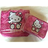 Super Cute Combo Pack Hello Kitty Embroidered Applique Tote Bag Dimension: 14.5 X 13.5 X 5 And Lunch Box Bag Dimension...