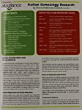 Italian Genealogy Research Quick Reference Guide (Genealogy at a Glance)