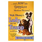 Walt Disney's Lady and the tramp MOVIE POSTER 1955 24X36 VINTAGE CARTOON (reproduction, not an original)
