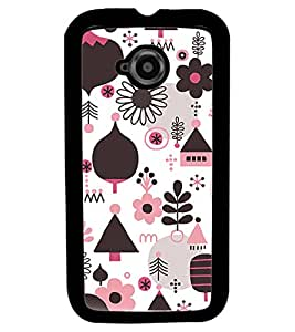 Fuson Premium Christmas Tree Metal Printed with Hard Plastic Back Case Cover for Motorola Moto E (2nd Gen)