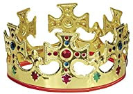 Gold Plastic Jeweled King Crown
