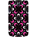 For Samsung Galaxy S3 I9300 :: Samsung I9305 Galaxy S III :: Samsung Galaxy S III LTE Floral Pattern ( Flower Pattern, Flower, Black Background ) Printed Designer Back Case Cover By FashionCops