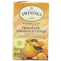 Twinings トワイニングハーブティー ハニーブッシュ マンダリン&オレンジ 20杯分 並行輸入品