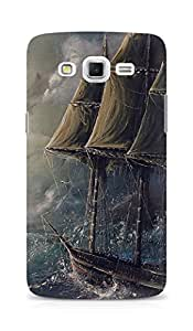 Amez designer printed 3d premium high quality back case cover for Samsung Galaxy Grand Max (Painting Sea Wave Boat Illust Art)