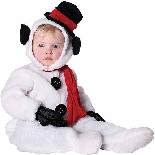 Underwraps Baby's Snowman, White/Black/Red, Medium